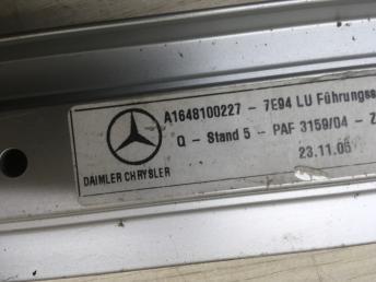 Рельсы пола багажного отделения Mercedes W164 1648100127