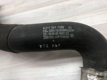 Патрубок радиатора левый Mercedes W211 2115011182