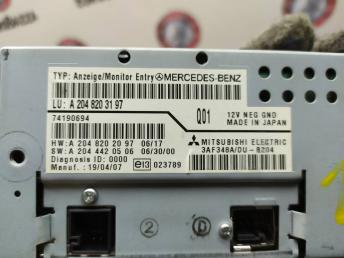 Монитор центральный передней панели Mercedes W204 2048203197