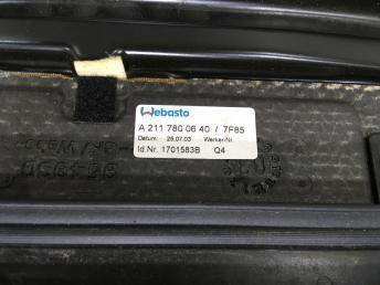 Люк сдвижной Mercedes W211 Япония 2117800640