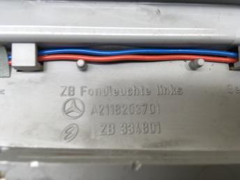 Плафон освещения салона Mercedes W211 2118203601