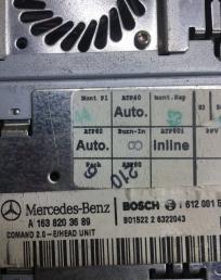 Магнитола Mercedes W163 1638203689