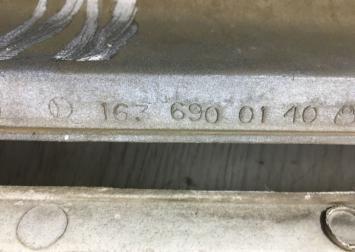Накладка порога Mercedes W163 1636900140
