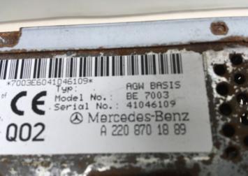 Усилитель акустический Mercedes W220 2208701889