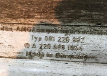 Пластиковые пороги Mercedes W220 AMG 2206981154
