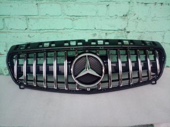 Решетка радиатора Mercedes W 176 A решетка  GT хро