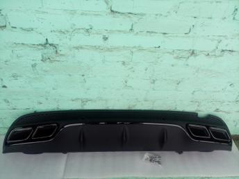 Диффузор бампера заднего Мерседес C205 63 AMG черн