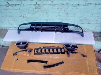 Диффузор бампера заднего Мерседес C205 63 AMG купе