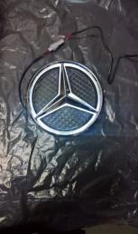 Знак Мерседес Mercedes Benz с подсветкой