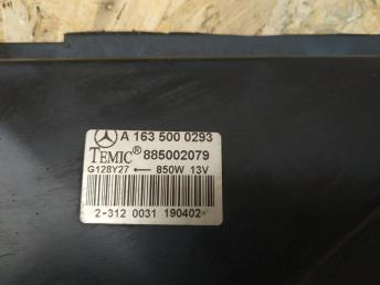 Вентилятор радиатора Mercedes W163 ML 163 a1635000293
